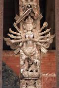 multi armed goddess - stock photo