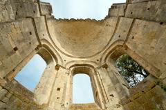 old abbey ruins in france - stock photo