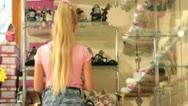 Children's Shoe Store Stock Footage
