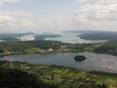 panorama of san juan islands - stock photo