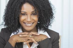 beautiful smiling african american woman businesswoman - stock photo