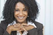 Stock Photo of beautiful smiling african american woman businesswoman
