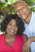 Senior african american man & woman couple Stock Photos