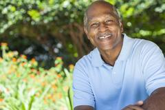 happy senior african american man - stock photo
