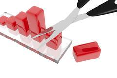 Reduction of benefits - stock illustration