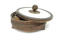 old jewelery box - stock photo