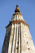 stupa spire in nepal - stock photo