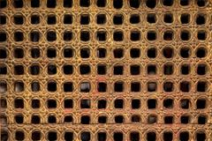 carved temple grid - stock photo