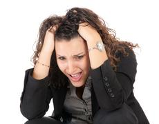 business woman failure - stock photo