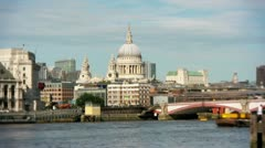 Long view of St Paul's Cathedral Stock Footage