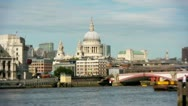 Stock Video Footage of Long view of St Paul's Cathedral