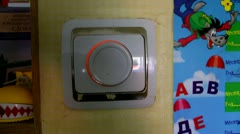 The safe, adjustable switch of light in a nursery Stock Footage