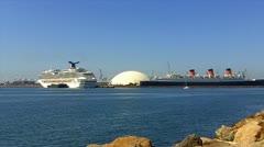 Modern risteilyalus Queen Mary valtamerilaiva Arkistovideo