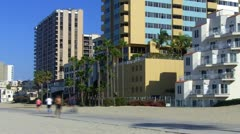 People Exercising At The Beach In Southern California TL Stock Footage