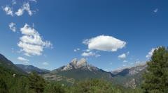 pedra timelapse pedraforca mountain range - stock footage