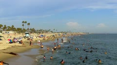 Southern California Beach On Hot Summer Day 2 Stock Footage