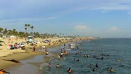 Stock Video Footage of Southern California Beach On Hot Summer Day 2