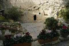 Jerusalem Tomb Garden - stock photo