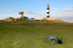 Bicycle tourism Stock Photos