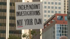 protest, signs, child welfare investigation, #6 - stock footage