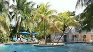 Pool scene Jamaica Stock Footage