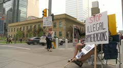 protest, signs, child welfare investigation, #1 - stock footage