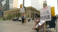 Protest, signs, child welfare investigation, #1 Stock Footage