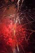 Red firework Stock Photos