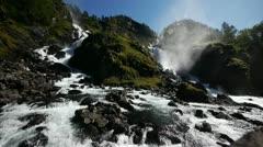 Låtefossen waterfall Stock Footage