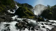 Stock Video Footage of Låtefossen waterfall