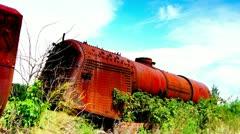 Locomotive ruined Stock Footage