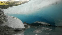 Stock Video Footage of Nigardsbreen glacier's melting ice