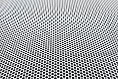 metal grid perspective - stock photo