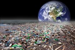 Earth sinking in pollution Stock Illustration