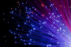multi colored optic fibers - stock photo