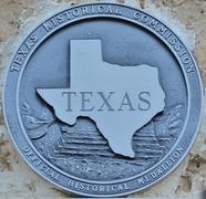 Texas Historical Marker Stock Photos
