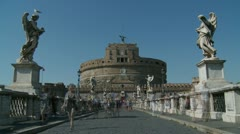 Castle St Angelo, Rome Timelapse, slow motion Stock Footage
