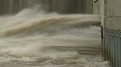 dam, high flow fast water pipe, tight frame, #1 - stock footage