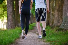 Young couple jogging Stock Photos