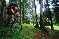 mountain bike - stock photo