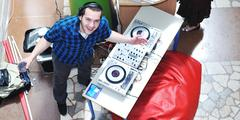 dj on party event - stock photo