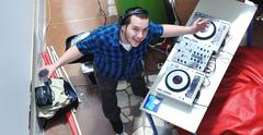 Dj on party event Stock Photos
