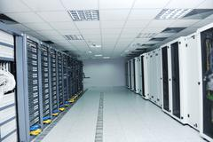 network server room - stock photo