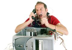 rage against technology - stock photo