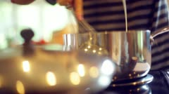 Making whipped creme cream Stock Footage