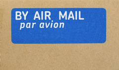 airmail letter - stock photo
