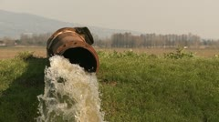 Rusty pipe water drain Stock Footage