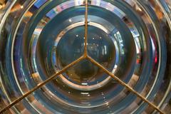 Lighthouse fresnel lens Stock Photos