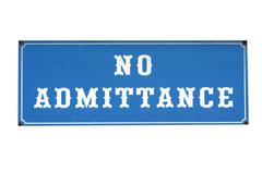no admittance sign - stock photo