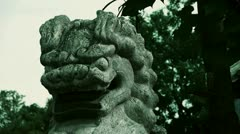 Stone lion,Historical monuments. Stock Footage